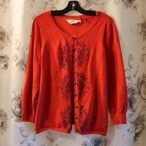 HWR Orange Red Cardigan
